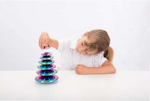 Sensory Reflective Colour Burst Buttons - Pk7
