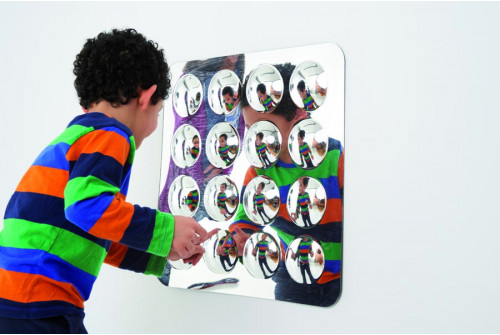 Large 16-Domed Acrylic Mirror Panel - 490mm