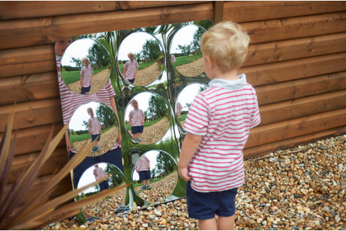 Giant 9-Domed Acrylic Mirror Panel - 780mm