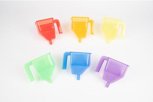 Translucent Colour Funnels - Pk6