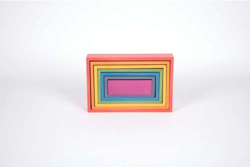 Rainbow Architect Rectangles - Pk7