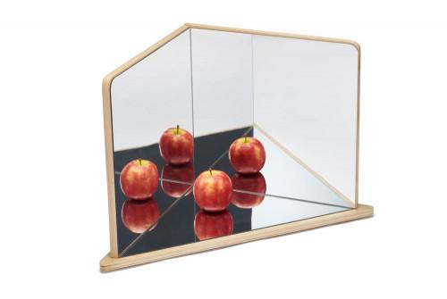 Wooden 4-Way Mirror