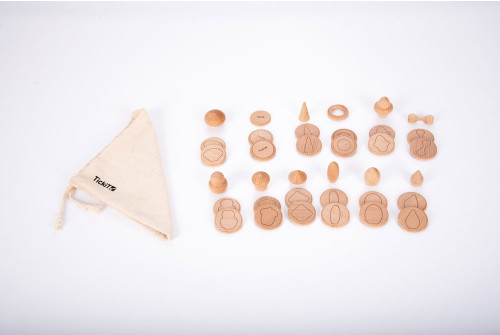 Wooden Treasures Touch & Match Set