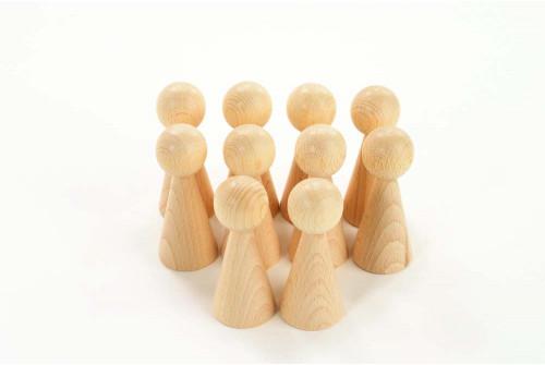 Wooden Figures - Pk10