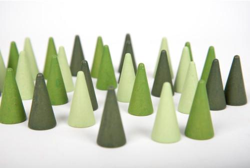 """Wooden Treasures """"Cone"""" - Pk30"""