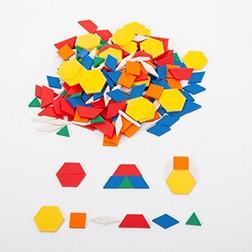 Plastic Pattern Blocks - Pk250