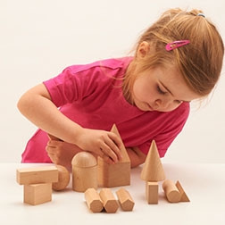 Wooden Geometric Solids - Pk15
