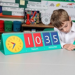 Tell Time Flip Charts - Teacher