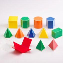 Folding Geometric Solids 2D/3D - Pk12