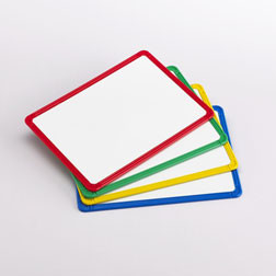 Magnetic Plastic Framed Whiteboards - Pk4