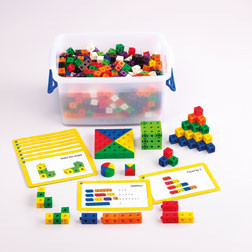 2cm Linking Cubes Classroom Set - Pk500