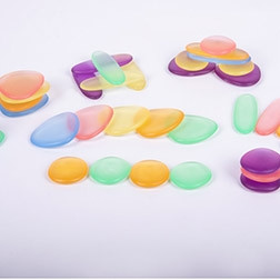 Clear Junior Rainbow Pebbles® - Pk36