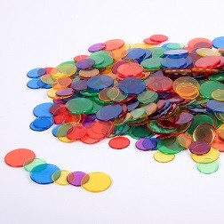 Translucent Colour Counters - Pk500