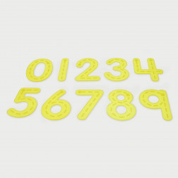 SiliShapes® Trace Numbers Yellow - Pk10