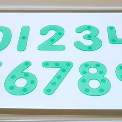 SiliShapes® Dot Numbers Green - Pk10