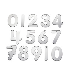 Mirror Numbers 70mm - Pk14