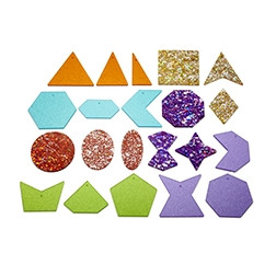 Rainbow Glitter Shapes - Pk21