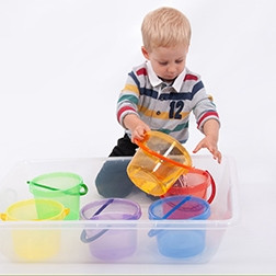 Translucent Colour Bucket Set - Pk6
