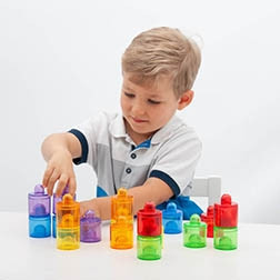 Translucent Colour Pot Set - Pk18