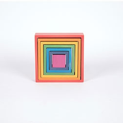 Rainbow Architect Squares - Pk7