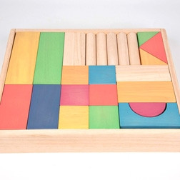 Rainbow Wooden Jumbo Block Set - Pk54