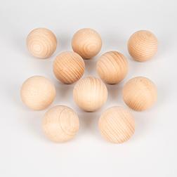 Wooden Balls 50mm - Pk10