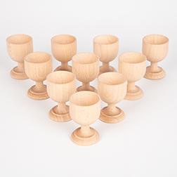 Wooden Egg Cups - Pk10