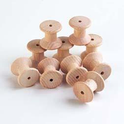 Wooden Spools - Pk10