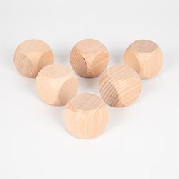 Wooden Cubes 40mm - Pk6