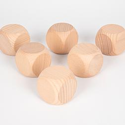 Wooden Cubes 50mm - Pk6