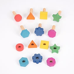 Rainbow Wooden Nuts & Bolts - Pk7