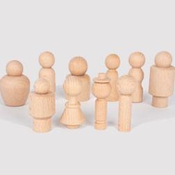 Wooden Community Figures - Pk10