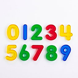 Transparent Number Set - Pk10