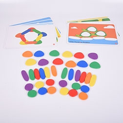 Junior Rainbow Pebbles Activity Set - Pk44