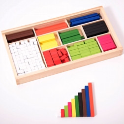 Wooden Cuisenaire Rods - Pk308
