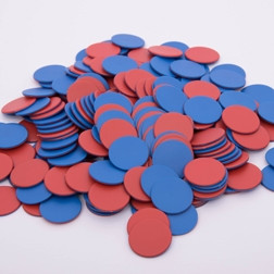 Red/Blue Counters - Pk200