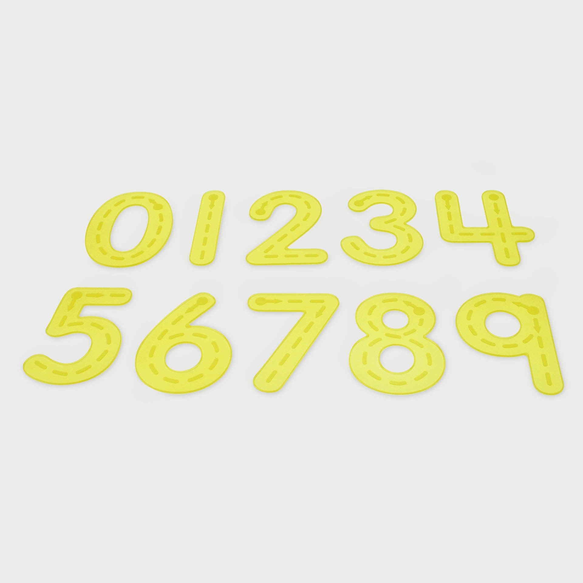 SiliShapes® Trace Numbers Yellow - Pk10