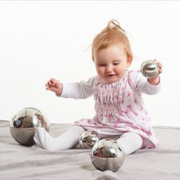 Sensory Reflective Silver Balls - Pk4