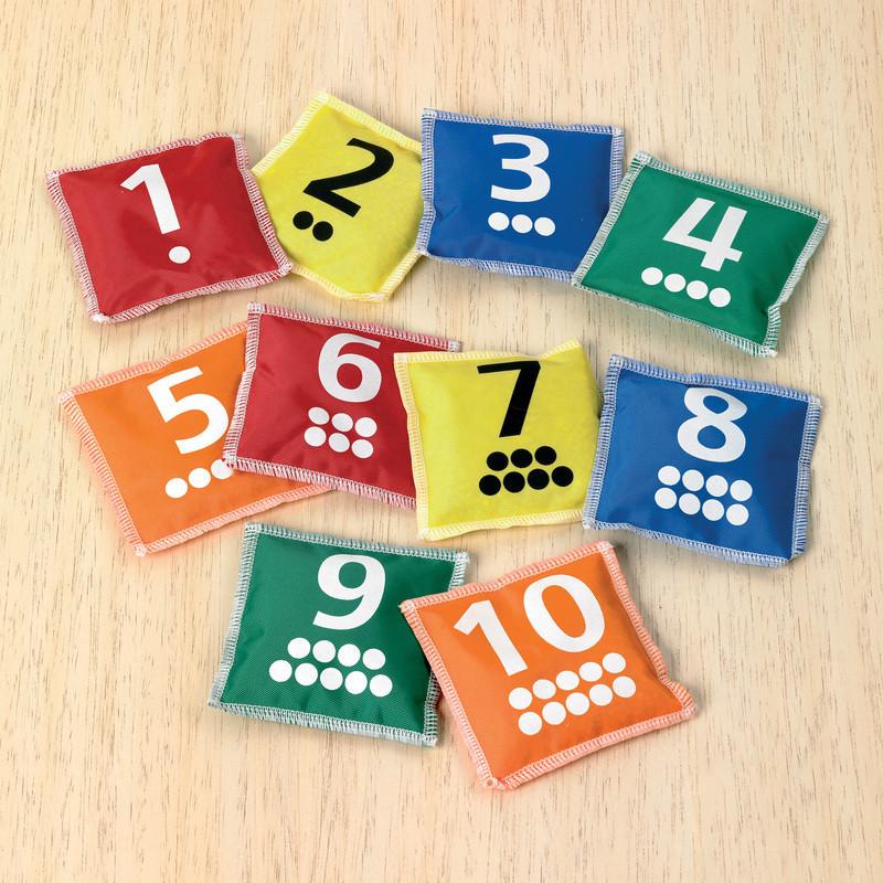 Number & Dot Bean Bags - Pk10
