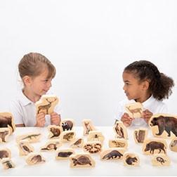 Wooden Forest Animal Blocks - Pk30