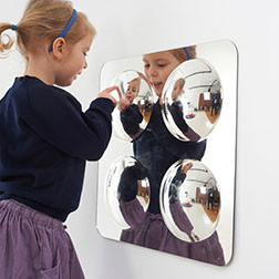 Large 4-Domed Acrylic Mirror Panel - 490mm