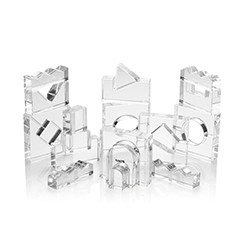 Clear Crystal Block Set - Pk25