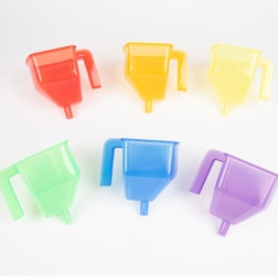 Translucent Colour Funnels - Pk6