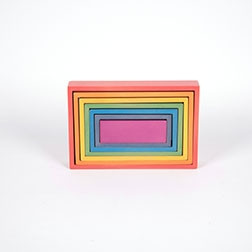 Rainbow Architect Rectangles - Pk7