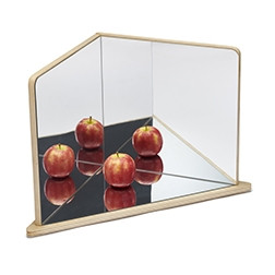 Wooden 4-Way Mirror