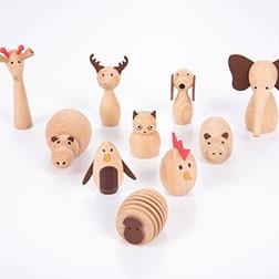 Wooden Animal Friends - Pk10
