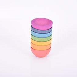 Rainbow Wooden Bowls - Pk7