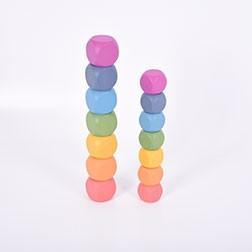 Rainbow Wooden Cubes - Pk14
