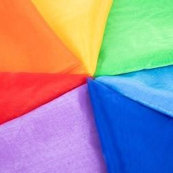 Rainbow Organza Fabric Pack - Pk7