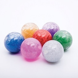 Sensory Rainbow Glitter Balls - Pk7